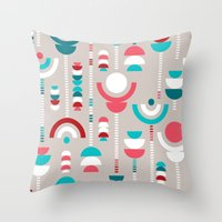 Tulip Tumble Throw Pillow
