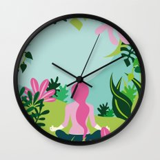 Yoga Garden Wall Clock