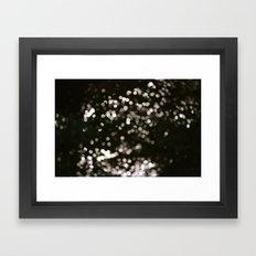 Bokeh. Framed Art Print