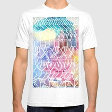 colorful Indians SMALL Mens Fitted Tee White