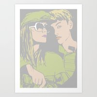 With me Art Print
