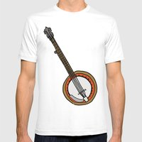 B Is For Banjo, Typed. Mens Fitted Tee White SMALL