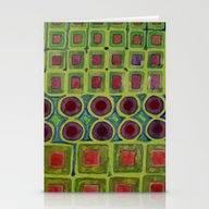 Connected Filled Square … Stationery Cards