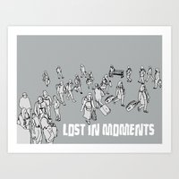 Lost in Moments Art Print