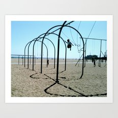 Santa Monica Rings Art Print