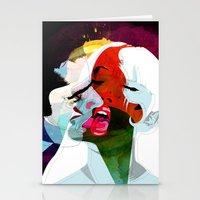 kiss Stationery Cards featuring Kiss by Alvaro Tapia Hidalgo