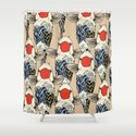 The Great Wave Of Koi Shower Curtain