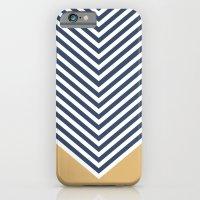 Gold & Navy Chevron iPhone 6 Slim Case