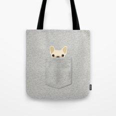 Pocket French Bulldog - Cream Tote Bag