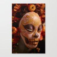 Pumpkin Harvest Muertita Detail Canvas Print