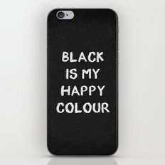 Black Happy 01 iPhone & iPod Skin