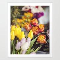 Market Tulips Art Print