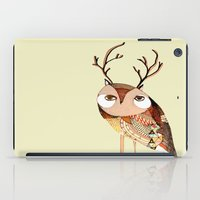 owl print, owl illustration, owl art, owl  iPad Case