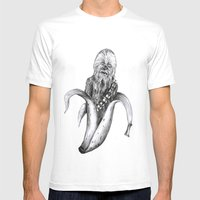 Chewbacca Banana Mens Fitted Tee White SMALL