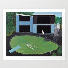Green Pool Art Print