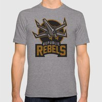 Republic Rebels Mens Fitted Tee Athletic Grey SMALL