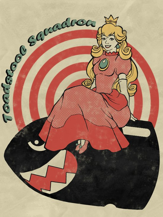 Toadstool Squadron Art Print