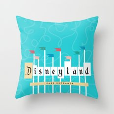 Park Entrance | Disney I… Throw Pillow
