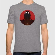 Iron Red Mens Fitted Tee Tri-Grey SMALL