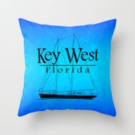 Key West Sailing Throw Pillow