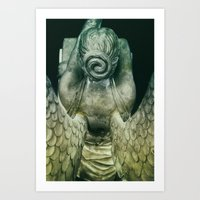 Cemetery Angel -Vert Art Print