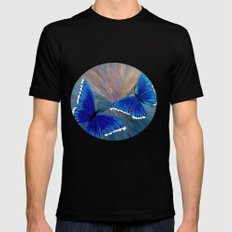 Butterflies-2  Black Mens Fitted Tee SMALL