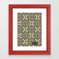 Kagome Fret Lattice. Framed Art Print