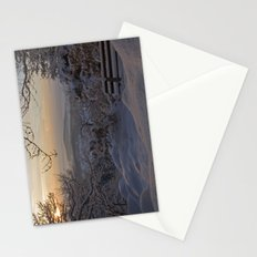 Winter sunset in the Black Forest Stationery Cards
