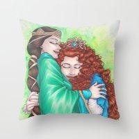 Merida And Elinor Throw Pillow