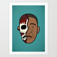 Faces Of Breaking Bad: G… Art Print