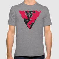 This Heart Shaped Hole Mens Fitted Tee Tri-Grey SMALL