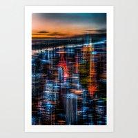 New York - The Night Awa… Art Print