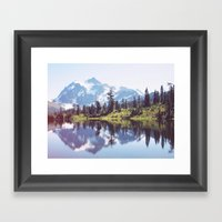Picture Lake Framed Art Print