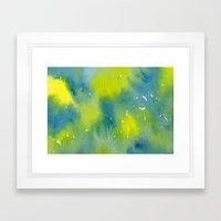 Vibrant sunshine tree top Framed Art Print