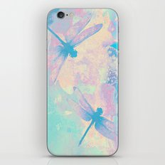 Blue Painting Dragonflies iPhone & iPod Skin