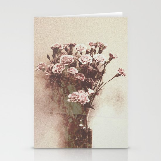 Abstract Vintage Flowers Stationery Card