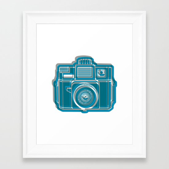 I Still Shoot Film Camera Logo Framed Art Print