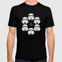 Stormtrooper pattern Mens Fitted Tee Black SMALL