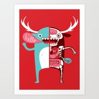 All Monsters Are The Sam… Art Print