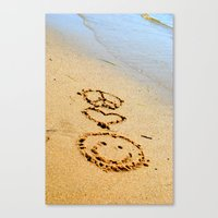 Peace Love and Happiness Canvas Print