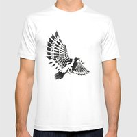 Raven Crow Shaman Tribal… Mens Fitted Tee White SMALL
