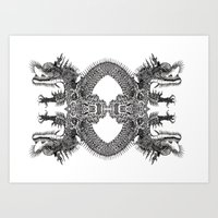 Scales Of Symmetry  Art Print