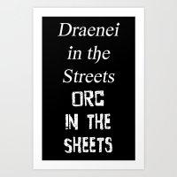 Draenei Vs Orcs Art Print