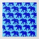 Baby Elephant Parade Canvas Print