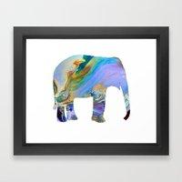 Melting Elephant Framed Art Print