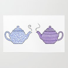 Patterned Teapots Rug