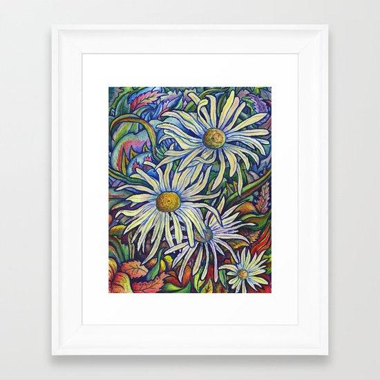 Wild Daisies Framed Art Print