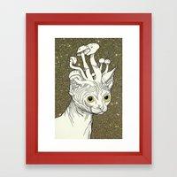 King of Cats Framed Art Print