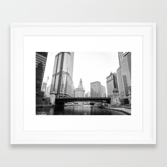 Chicago Riverwalk - Wasbash Avenue  Framed Art Print