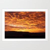 Rising Sun Relief Art Print